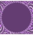 Round violet frame vector