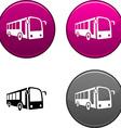 Bus button vector