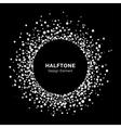 White abstract halftone circle frame vector