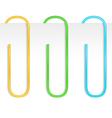 Paper clips vector