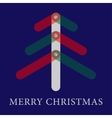 Christmas greeting card with translucent three vector