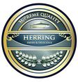 Herring gold label vector