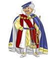 Funny fairytale cartoon king vector