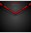 Dark modern corporate arrow design vector