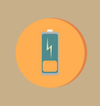 Discharged battery symbol a discharged battery vector