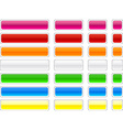 Web blank glossy buttons vector