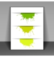 Flyer with colored spots of paint vector
