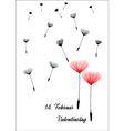 German valentine dandelion vector