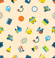 Seamless pattern with icons of education subjects vector