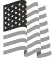 Waving us flag vector