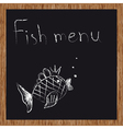 Template of a fish restaurant vector