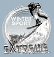 Snowboard free jump vector