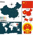 China map world vector