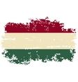 Hungarian grunge flag vector
