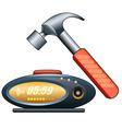 Alarm clock and hammer vector