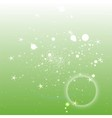 Light green circle background with star vector