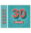 Birthday card editable vector
