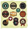 Retro grunge food labels badges vector