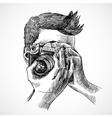 Photographer sketch portrait vector