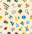 Seamless texture with of education icons vector