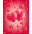 Valentine card hearts vector