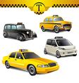Taxi cars vector