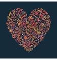 Creative doodle watercolor heart on the dark vector