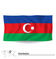Flag of azerbaijan vector