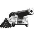 Navy cannon vector