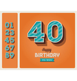 Birthday card editable vector