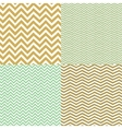 Geometric chevron seamless patterns set hand drawn vector