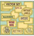 Old paper labels vector