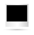 Blank photoframe closeup vector