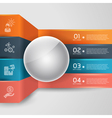 Business step infographic template with globe vector