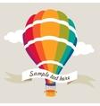 Colorful air balloon vector