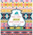 Ethnic print pattern background vector