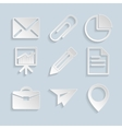 Business paper icons vector