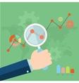Flat of web analytics information and development vector