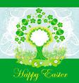 Easter tree frame vector