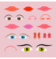 Eyes mouths noses and ears set vector