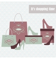 Shopping bags and fashion shoes vector