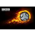 Soccer fire beckground vector