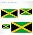 Jamaica flag template vector