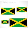 Jamaica flag template vector