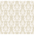 Damask floral seamless pattern in beige vector