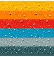 Rain water drops on retro colorful background vector