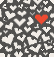 Different abstract heart icons seamless pattern vector