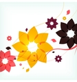 Abstract autumn flower background vector