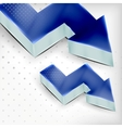 Blue 3d arrow background vector
