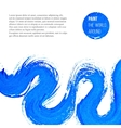 Abstract blue brush stroke vector
